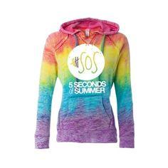 2 5 Seconds of Summer Hoodie ❤ liked on Polyvore featuring tops, hoodies, hooded sweatshirt, summer hoodie, summer hoodies, hooded pullover and sweatshirts hoodies