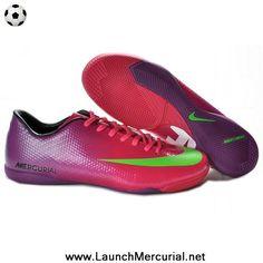 Buy Nike Mercurial Vapor IX IC CR9 Victory IV IC Indoor Boots Red Purple  Green 2014 49c6616ef