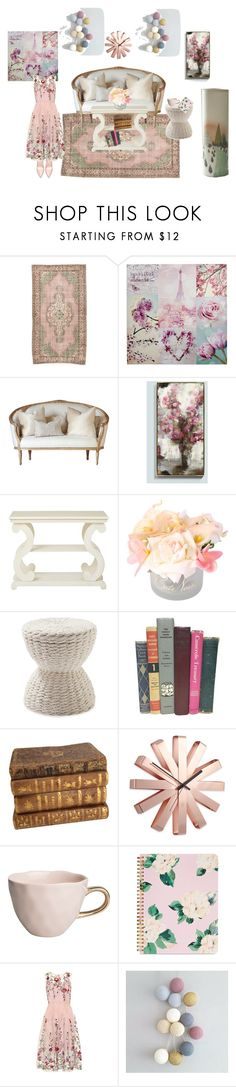 """""""Pastel home"""" by lujzazsu ❤ liked on Polyvore featuring interior, interiors, interior design, home, home decor, interior decorating, Ballard Designs, Office Star, Serena & Lily and Umbra"""
