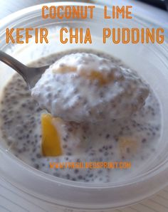 Coconut Lime Kefir Chia Pudding