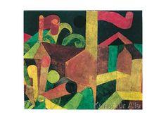 Paul Klee - Landschaft mit Fahnen, 1915