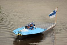 The Finnish team 'Midnight Sun MAMK' during the Dutch Solar Challenge 2014. They raced in the B class at the world cup for solar powered boats.