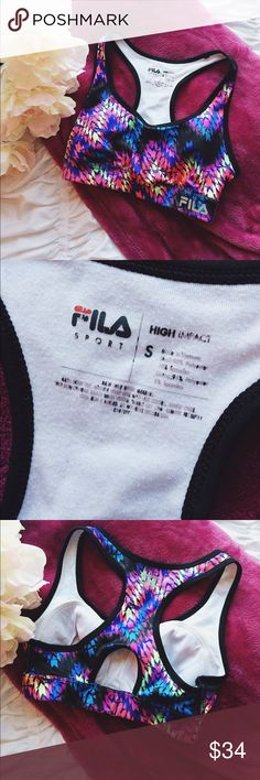 FILA High Impact Sports Bra Worn a few times but no stains, odor or stretch. Great condition! 2 for 22$, 3 for $30!! Plus bundle deal! Fila Intimates & Sleepwear Bras