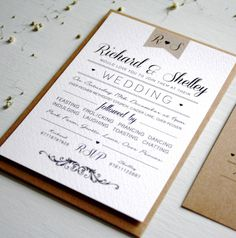 Elegant Type Vintage Wedding Invitation