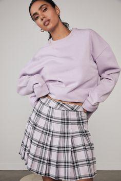 Pleated Skirt | Women's Fashion & Accessories | Factorie Pleated Skirt, Midi Skirt, Tennis Skirts, Sports Luxe, Plaid Skirts, Tartan Plaid, Fashion Accessories, Women's Fashion, Cotton