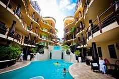 El Taj Oceanfront and beachside condo hotel! Gorgeous pool and resort! To book this hotel go to http://hotelplusportal.com/ElTajOceanfrontandBeachsideCondoHotel-in-PlayadelCarmen