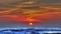 Deniz, dalgalar, gün batımı