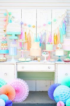 Fill your spring party with pastels with this vibrant theme idea.