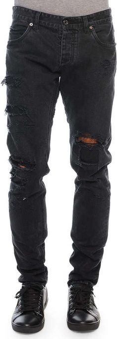 $875, Black Ripped Jeans: Dolce