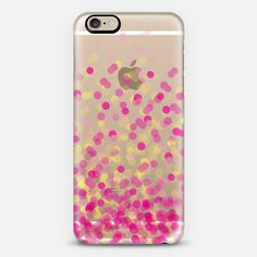 Pink and Yellow Confetti - Classic Snap Case
