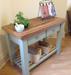 'THE ILMINSTER' Hand Made Oak Butchers Block/kitchen Island/work Station | eBay