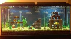 Ok, if I were to own a fish tank, this it what it would look like. #fishtank #mariobrothers