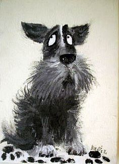 Dogs in Art at the StockBridge Gallery - Terrier by Barry Daiper, £75.00 (http://www.dogsinart.com/products/Terrier-by-Barry-Daiper.html)