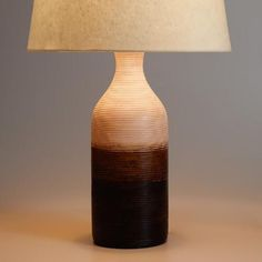 One of my favorite discoveries at WorldMarket.com: Ombre Wood Table Lamp Base