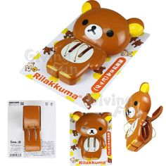 GENUINE SAN-X Rilakkuma Bear Large Plastic Clothing Pegs Book Clips Clothes Pins #SANXRilakkumaBear #ClothingPegsBookClipsClothesPins