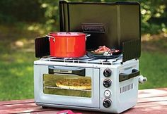 OH MAN! GET YOUR BBQ ON WITH THE COLEMANAN Outdoor Oven/Stove