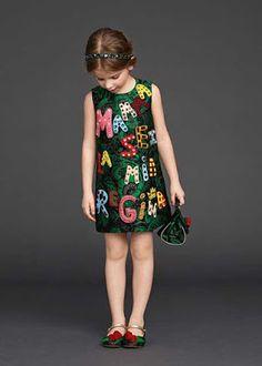 D&G kız çocuk elbise (2016 kış sezonu)
