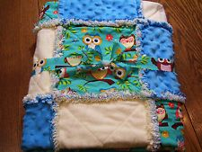 Rag quilt with owls