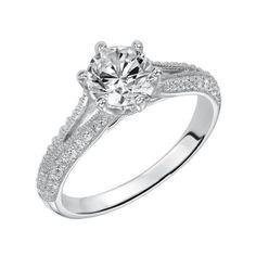 14K White Gold Pave Split Shank Engagement Ring LOVE LOVE LOVE this!!!