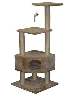 20% cut off Go Pet Club Cat Tree Beige Color