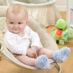 Cloud Baby Booties - free crochet pattern