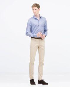 FANCY WEAVE SHIRT Formal Shirts For Men, Zara, Plain Shirts, Summer Shirts, Khaki Pants, Fancy, Weave, Passion, India