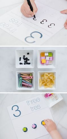 Printable counting cards - I laminated this lovely set and my kids love using them to practice their number writing and counting... a great quiet time activity.
