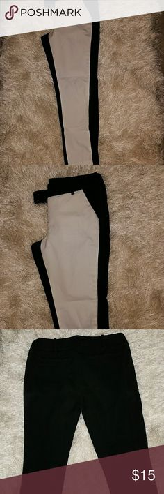 'Two Faced' Black and White Slacks Crop slacks in black and white. White front, black back. Hate to part with these actually because they are that cute! Mossimo Supply Co. Pants Ankle & Cropped
