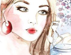 """Beauty editorial illustration for TELVA magazine, Spain"" by Leona Beth http://be.net/gallery/47712319/Beauty-editorial-illustration-for-TELVA-magazine-Spain"