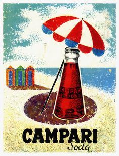 Campari Soda posters canvas printing wall decor print home decor printable prints art print photo m Vintage Italian Posters, Vintage Advertising Posters, Vintage Advertisements, Retro Poster, Poster Vintage, Vintage Labels, Vintage Ads, Retro Ads, Campari And Soda