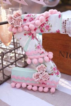 Vintage Shabby Chic Bridal/Wedding Shower Party Ideas | Photo 24 of 54 | Catch My Party