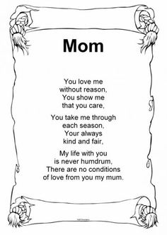 Mommy And Daddy Poems On Pinterest For Mom Mother