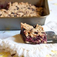 Blueberry Cobbler Bars. Bottom - 1/3C Lt. Brown Sugar, 1/2tsp.baking pdr, 1- 1/2C flour, 1/2tsp. Cinn., zest of lemon, 1/2C butter, 1egg. 8×8 pan @ 400 for 5min. Cool 10 min.Top -2C. Blueberries. Mix 1/3C brown sugar, 1tlb.flour. sprinkled over berries. Bake @ 375 for 30min. See blog.