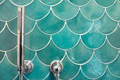 Sea Mist Moroccan Fish Scale Tile