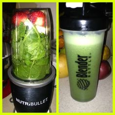 #postworkout snack! #nutribullet #spinach #banana #strawberries