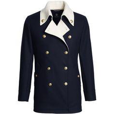Lands' End Men's Special Edition Coat ($400) ❤ liked on Polyvore featuring men's fashion, men's clothing, men's outerwear, men's coats, blue, mens blue trench coat, mens coats and lands end mens coats