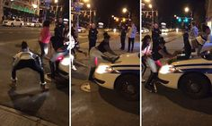 NEW YORK... Police officer let women TWERK on his patrol car | Daily Mail Online