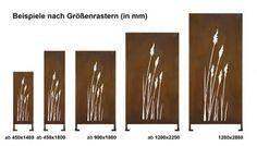 """Sichtschutz Cortenstahl Stele """"Gräser"""""""