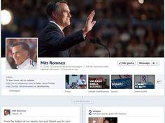 Página de Facebook de Romney.