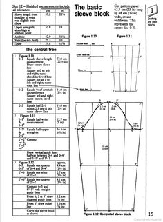 The Basic Sleeve Block. From: Flat Pattern Cutting and Modelling for Fashion   By Helen Stanley