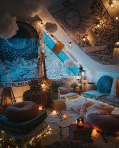 Chill Room, Cozy Room, Chill Out Room Ideas, Indie Room, Cute Room Decor, Room Ideas Bedroom, Décor Room, Aesthetic Room Decor, Dream Rooms