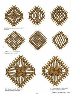 & # Alphabet of weaving & # Book on macram. Often … – Macrame Macrame Design, Macrame Art, Macrame Projects, Micro Macrame, Das Abc, Art Du Fil, Macrame Curtain, Macrame Tutorial, Bracelet Tutorial