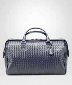 BOTTEGA VENETA MEDIUM DUFFEL BAG IN CELESTE INTRECCIATO VN Trolley and  Carry-on bag E e9b821dcd9a26