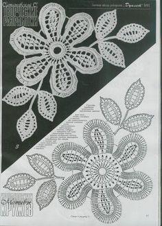 Captivating All About Crochet Ideas. Awe Inspiring All About Crochet Ideas. Irish Crochet Patterns, Crochet Motifs, Crochet Diagram, Freeform Crochet, Lace Patterns, Thread Crochet, Crochet Designs, Crochet Stitches, Irish Crochet Charts