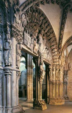 Catedral de Santiago de Compostela (1078-1128) - Portico de la Gloria, dentro del nárdex o espacio ya cerrado. España