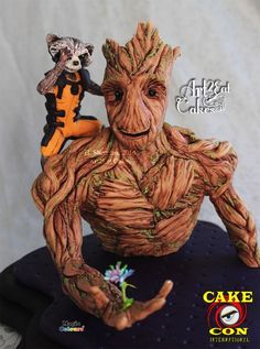Marvelous Rocket and Groot Cake from Art2Eat Cakes