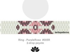 peyote ring pattern,PDF-Download, #005R-2d, 2 drop peyote, beading pattern, beading tutorials, ring pattern