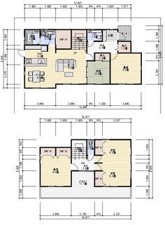 小屋裏収納 間取り 40坪 小屋裏収納と書斎ある家の間取り図