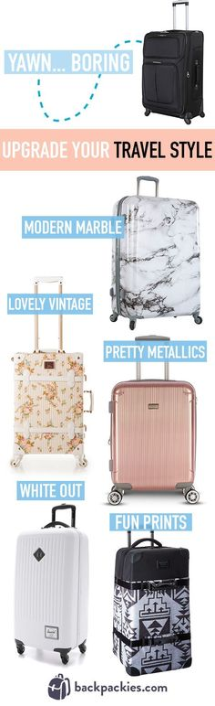 Upgrade your travel style with these cute suitcases for women and teens.