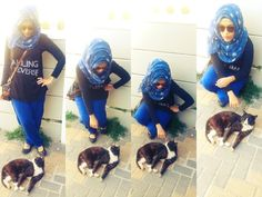 Hijabi loves kitties <3
